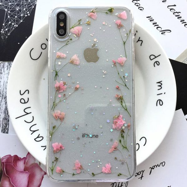 Bling Dried flowers iPhone X Case - FinishifyStore