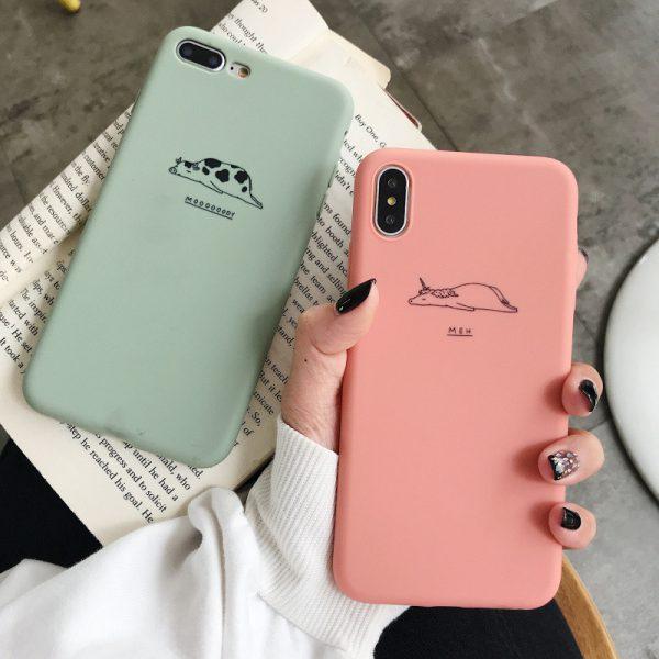 Lazy Pink Green Animals iPhone Case - FinishifyStore