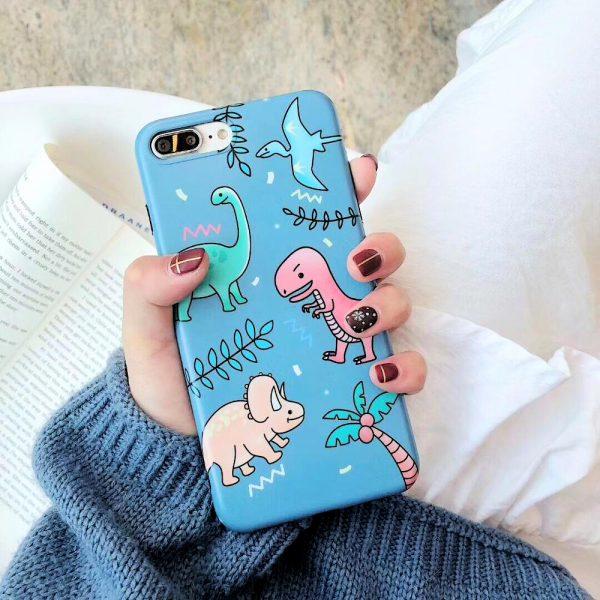 Dinosaur Blue Space iPhone Case - FinishifyStore