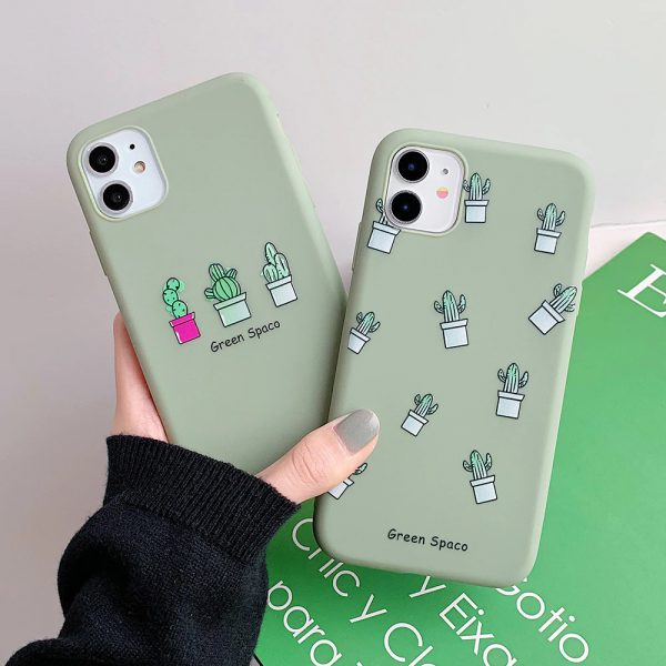 Green Cactus iPhone 12 Case