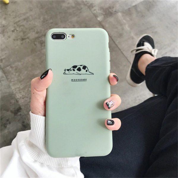 Lazy Animals Green iPhone Case - FinishifyStore