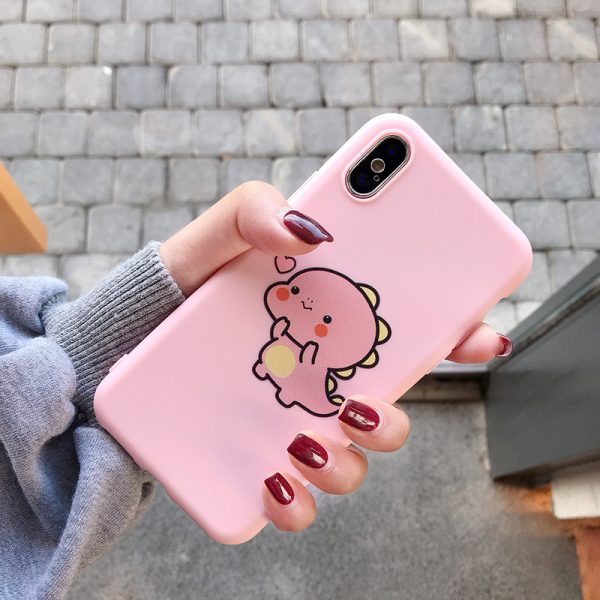 Lovely Pink Dinosaurs iPhone X Case - FinishifyStore