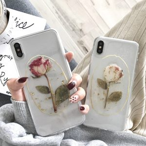 Lovely Rose Clear iPhone X Case