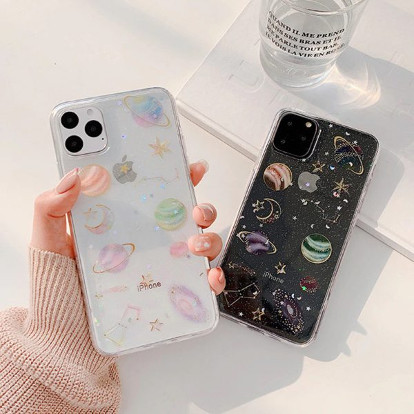Bling Glitter Planet Galaxy iPhone 12 Case