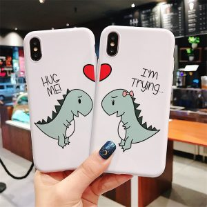 Couple Dinosaur iPhone X Case - FinishifyStore