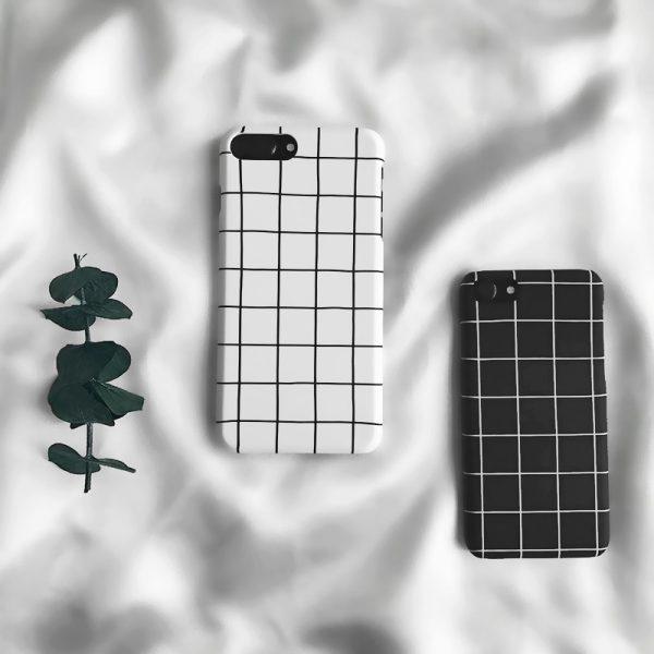 Fashion Black White Grid iPhone Case - FinishifyStore