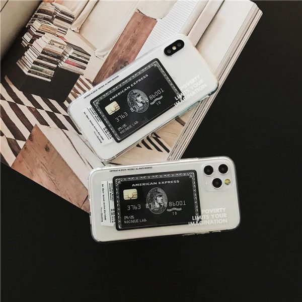 American Express Black Card Phone Case for iPhone 11 Pro Max Case - FinishifyStore