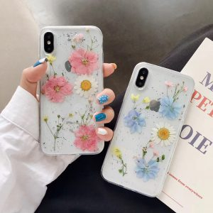 Real Dried Colorful flowers iPhone X Cases