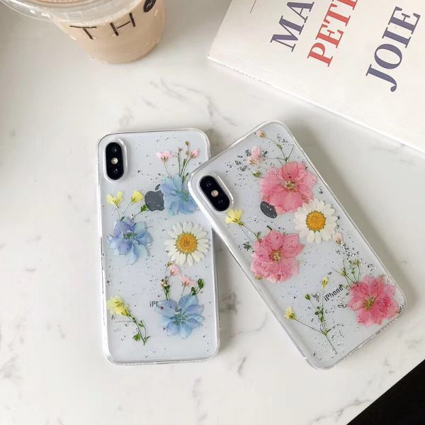 Real Dried Colorful flowers iPhone Xs Case