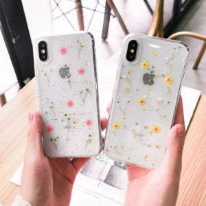 iPhone X Case With Real Dried flowers