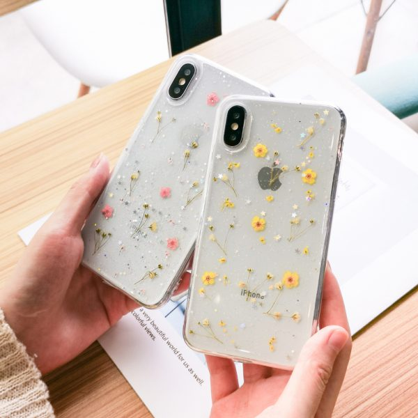 iPhone Case With Real Dried flower