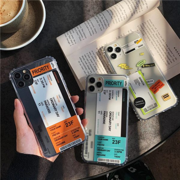 Airline Tickets Label iPhone 11 Case - FinishifyStore