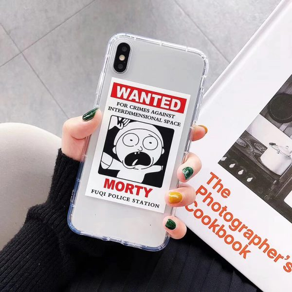 Rick and Morty Clear iPhone X Case - FinishifyStore