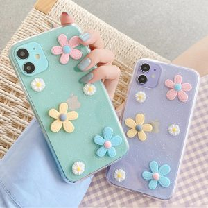 Bling Daisy Clear iPhone 12 Case - FinishifyStore