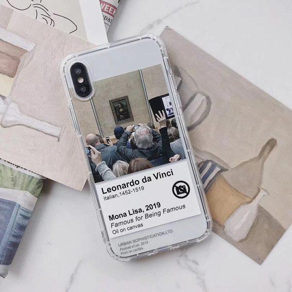 Leonardo davinci pattern iPhone X Case - FinishifyStore