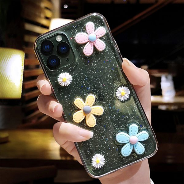 flower case iphone 11 Pro Max Black