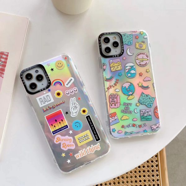 Holographic Stickers iPhone 11 Pro Case - FinishifyStore