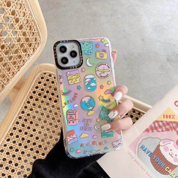 Holographic Stickers iPhone 11 Pro Max Case - FinishifyStore