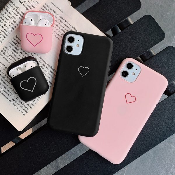 Love Heart Pink Black iPhone Case - FinishifyStore