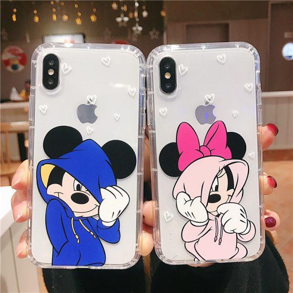 Mickey Minnie Clear iPhone Case - FinishifyStore