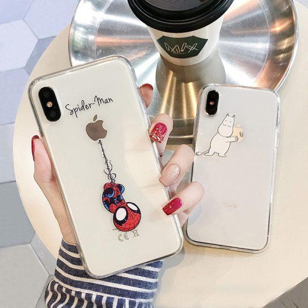 Spiderman Pet Clear iPhone X Case - FinishifyStore
