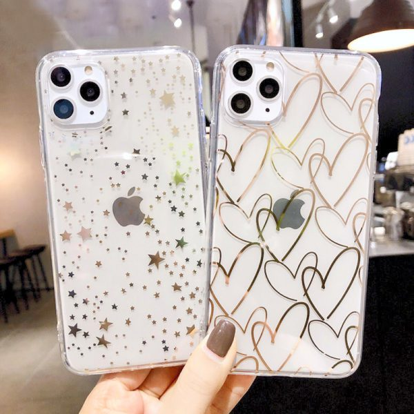 Starry Love Clear iPhone Case - FinishifyStore