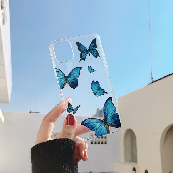 Cute Blue Butterfly iPhone 12 Case