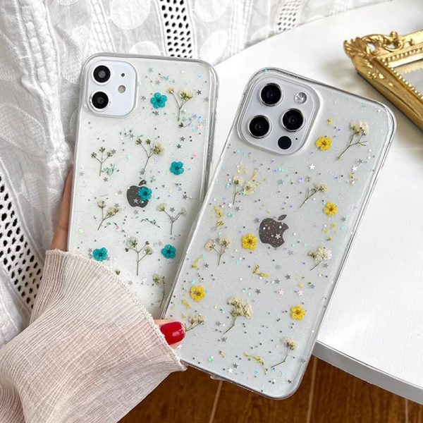 pressed flowers iphone 13 cases - finishifystore