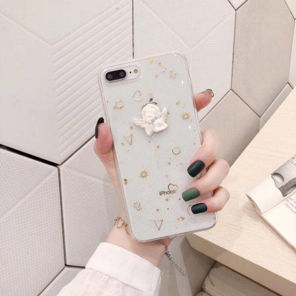 Clear Angel Statue iPhone 7 Plus Case - FinishifyStore
