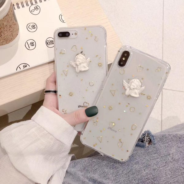 Angel Statue Clear iPhone 7 Plus Case - FinishifyStore