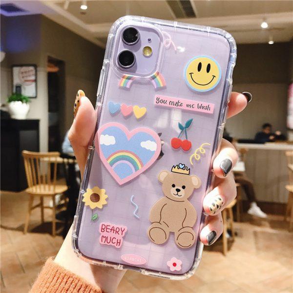 Cartoon Bear iPhone 11 Pro Max Case - FinishifyStore