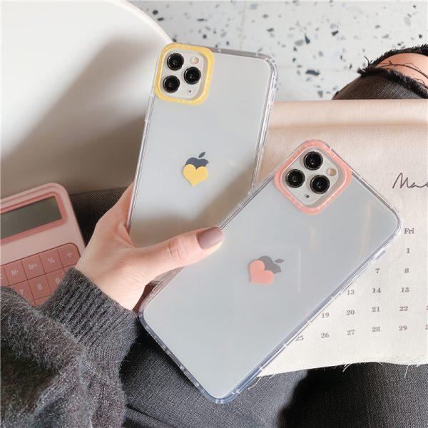 Love Heart Clear iPhone 11 Pro Max Case - FinishifyStore