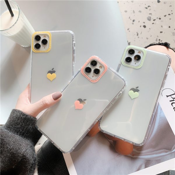Love Heart Clear iPhone Case 11 Pro Max - FinishifyStore