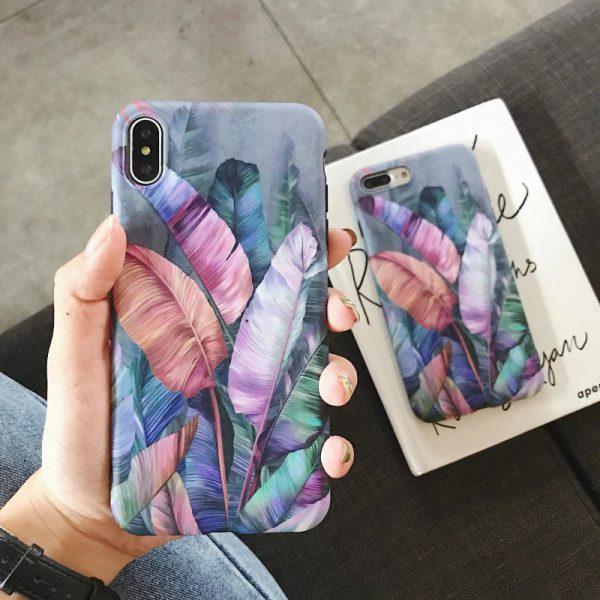 Purple Leaves iPhone Case - FinishifyStore