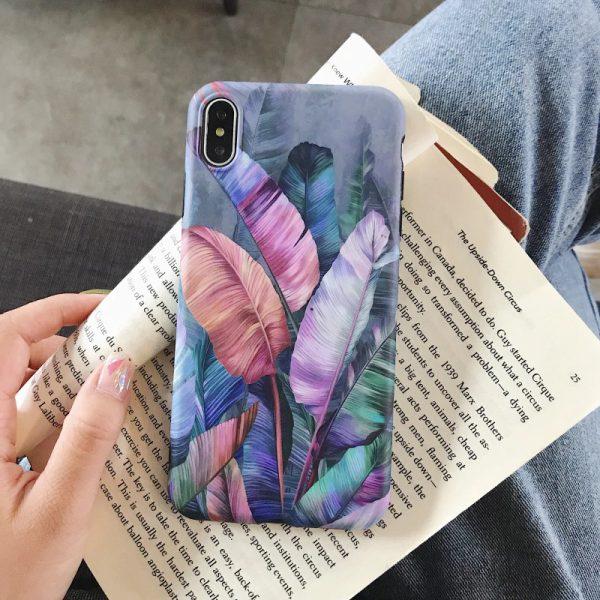 Purple Leaves iPhone X Case - FinishifyStore