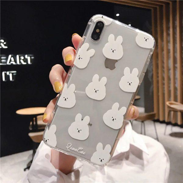 Rabbit Bear White iPhone X Case - FinishifyStore
