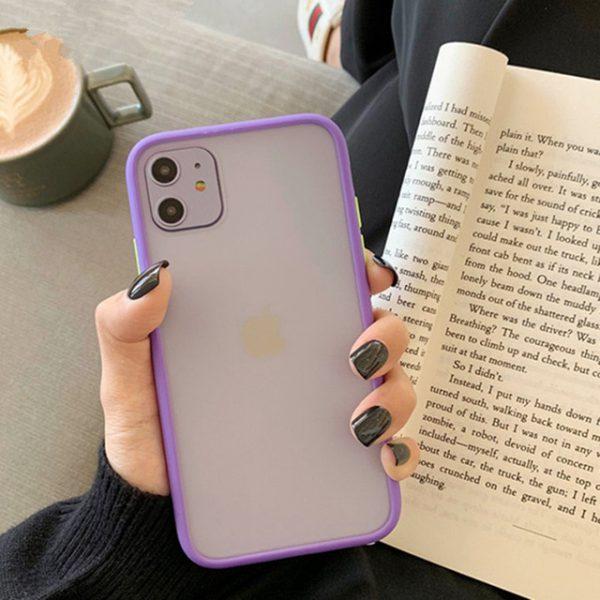 Shockproof Hybrid Purple iPhone Case - FinishifyStore