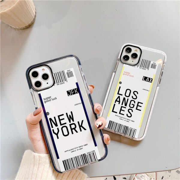 Airplane Label City iPhone Case - FinishifyStore
