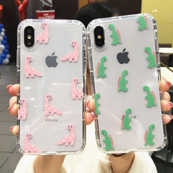 Dinosaur Clear iPhone Case - FinishifyStore