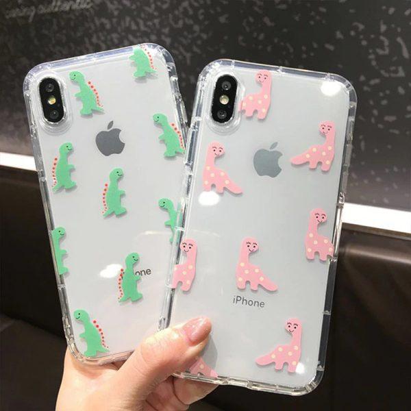 Dinosaur Clear iPhone X Case - FinishifyStore