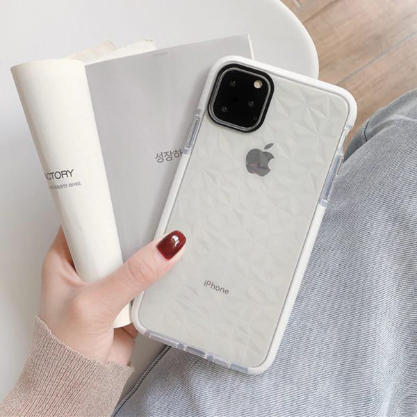 Crystals Shockproof White iPhone Case - FinishifyStore