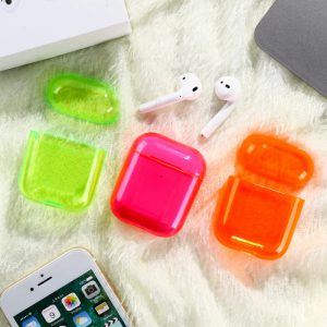 Cute Neon Colors Clear Airpods Cases - FinishifyStore