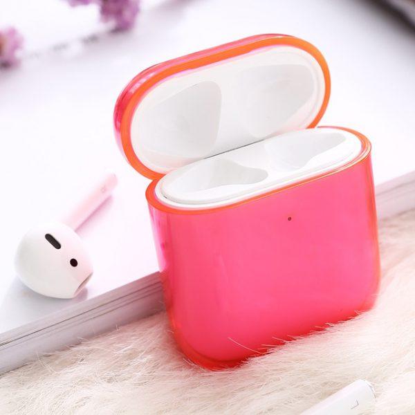 Neon Color Clear AirPod Case