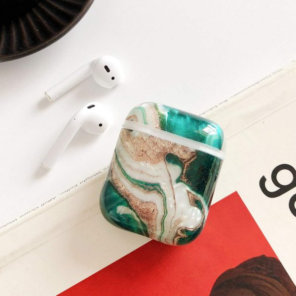 Cute Green Marble Airpods Case - FinishifyStore