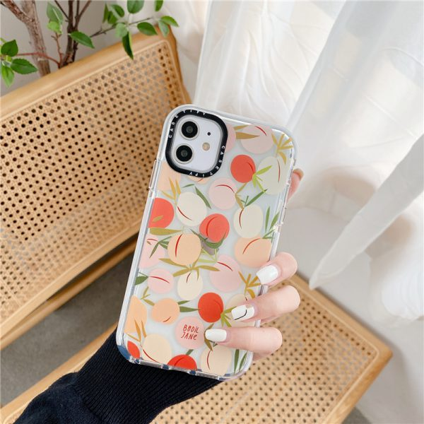 Peach Clear Shockproof iPhone Case - FinishifyStore