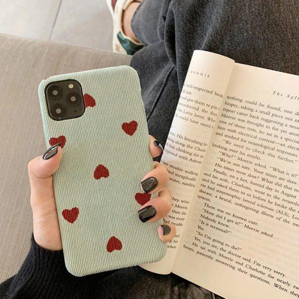 Velvet Heart Green iPhone Case - FinishifyStore
