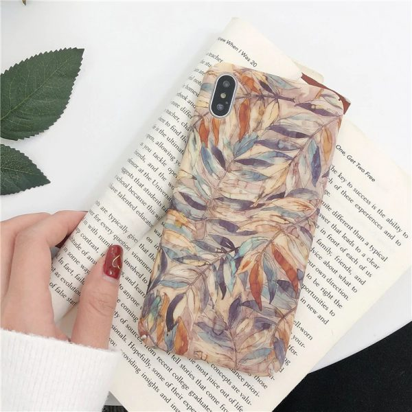 Watercolor Leaves iPhone X Case - FinishifyStore