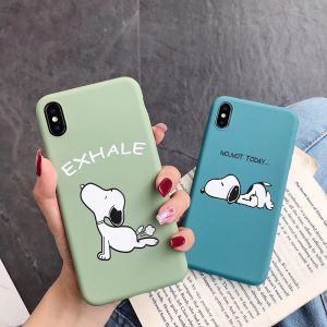 Cartoon Yoga Peanuts iPhone Case - FinishifyStore