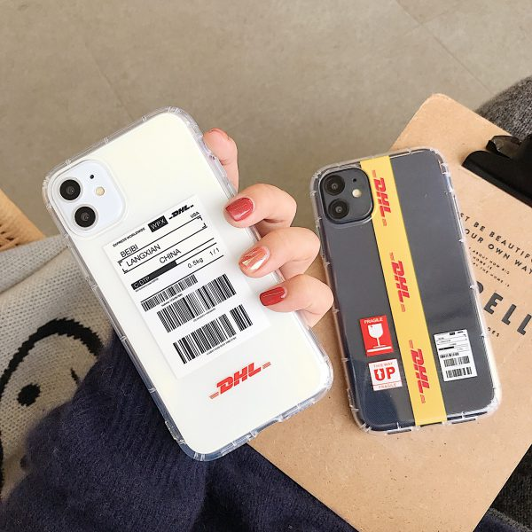 DHL Label Clear iPhone 11 Case - FinishifyStore