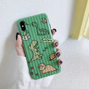 Dinosaur Green Color Case iPhone Xs